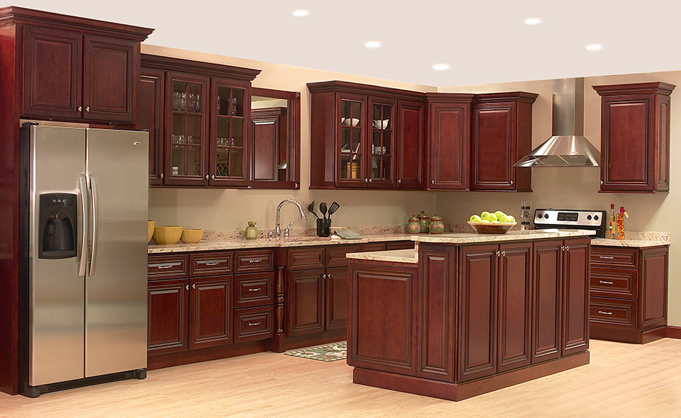 Cherry Wood Flooring Kitchen
